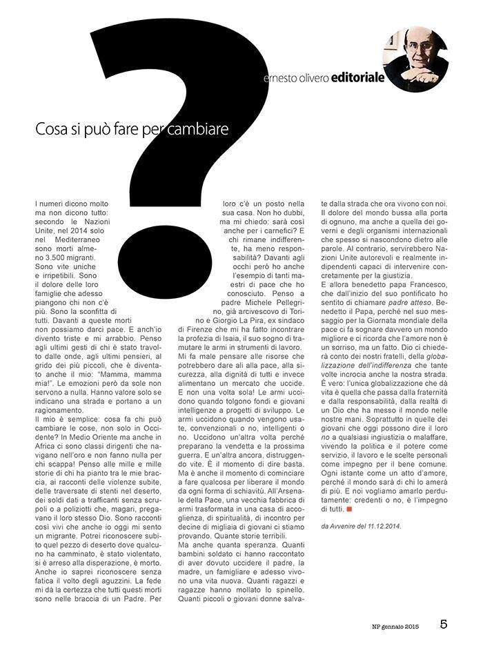 Editoriale Gennaio 2015