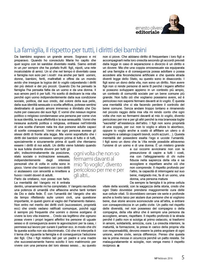 Editoriale Febbraio 2016