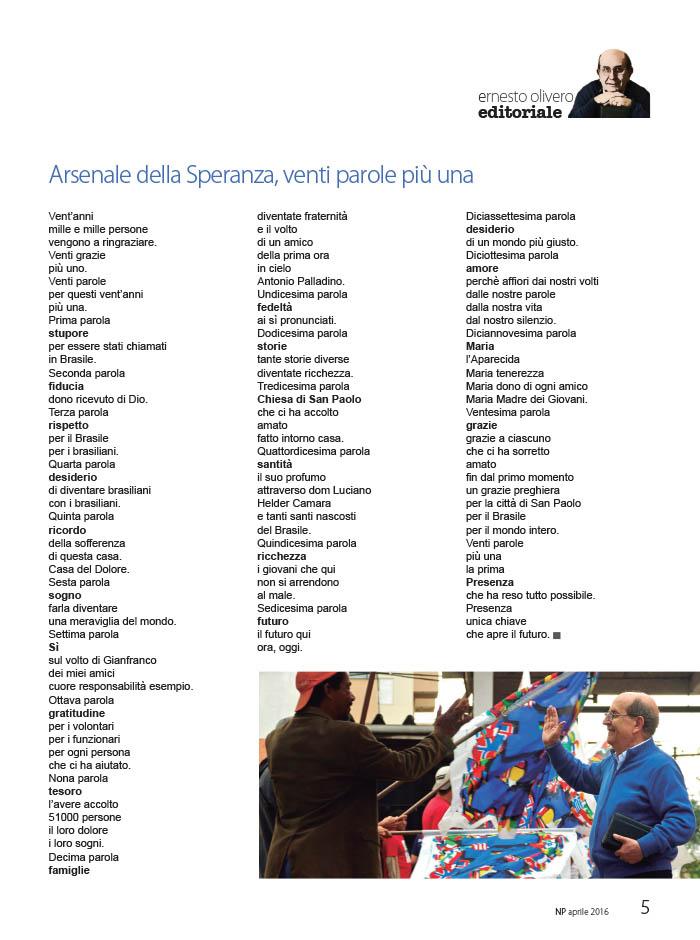 Editoriale Aprile 2016