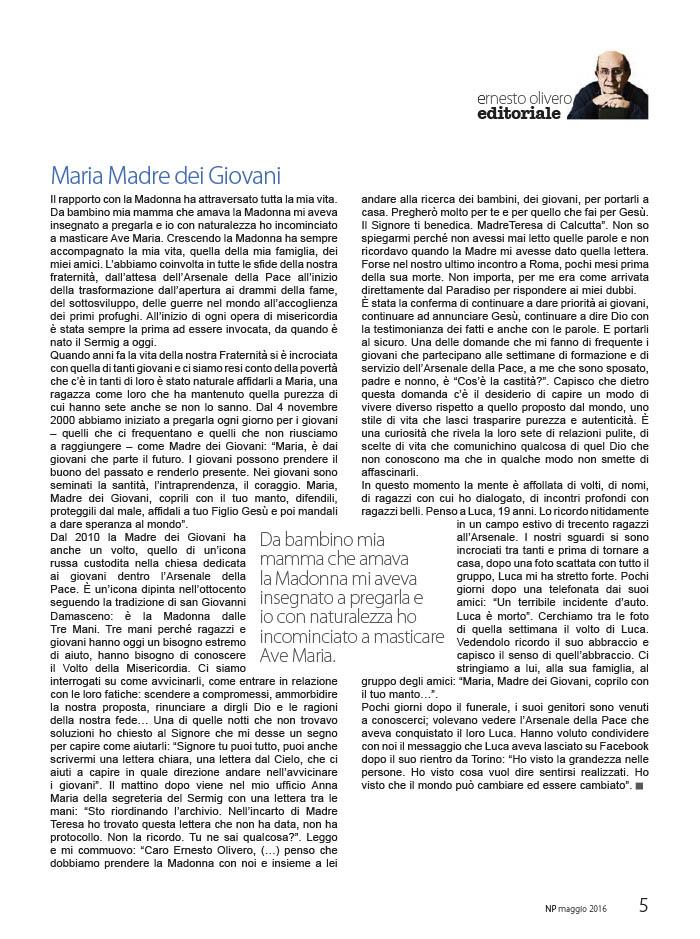 Editoriale Maggio 2016