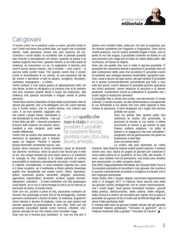 Editoriale Giugno / Luglio 2016