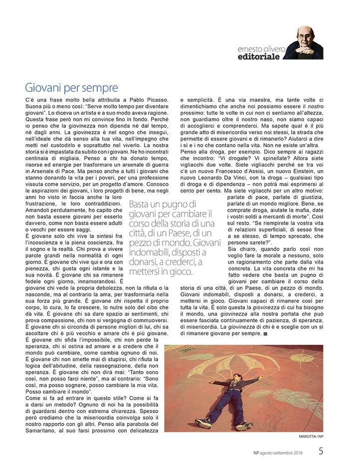 Editoriale Agosto / Settembre 2016